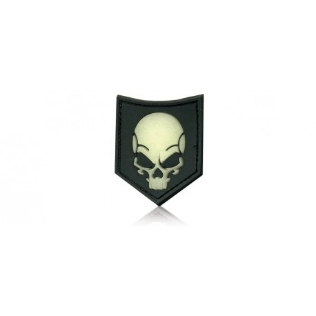 skull ghost velcro patch